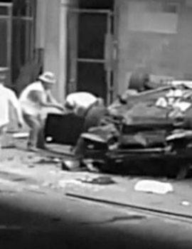 VIDEO/ Bie nga kati i shtatë…, një makinë