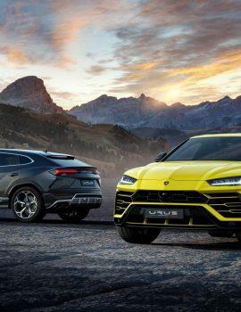 """FOTO GALERI/ """"Lamborghini"""" prezanton SUV-in e tij të parë"""