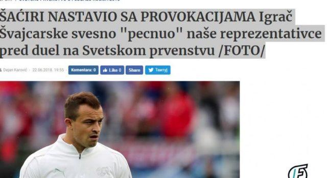 "FOTO/Cmenden serbët:""Shaqiri na provokoi para ndeshjes"""